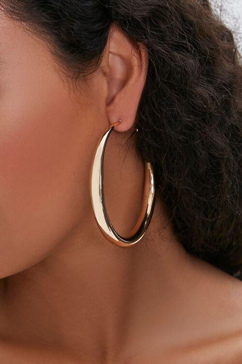GOLD Smooth Hoop Earrings, image 2