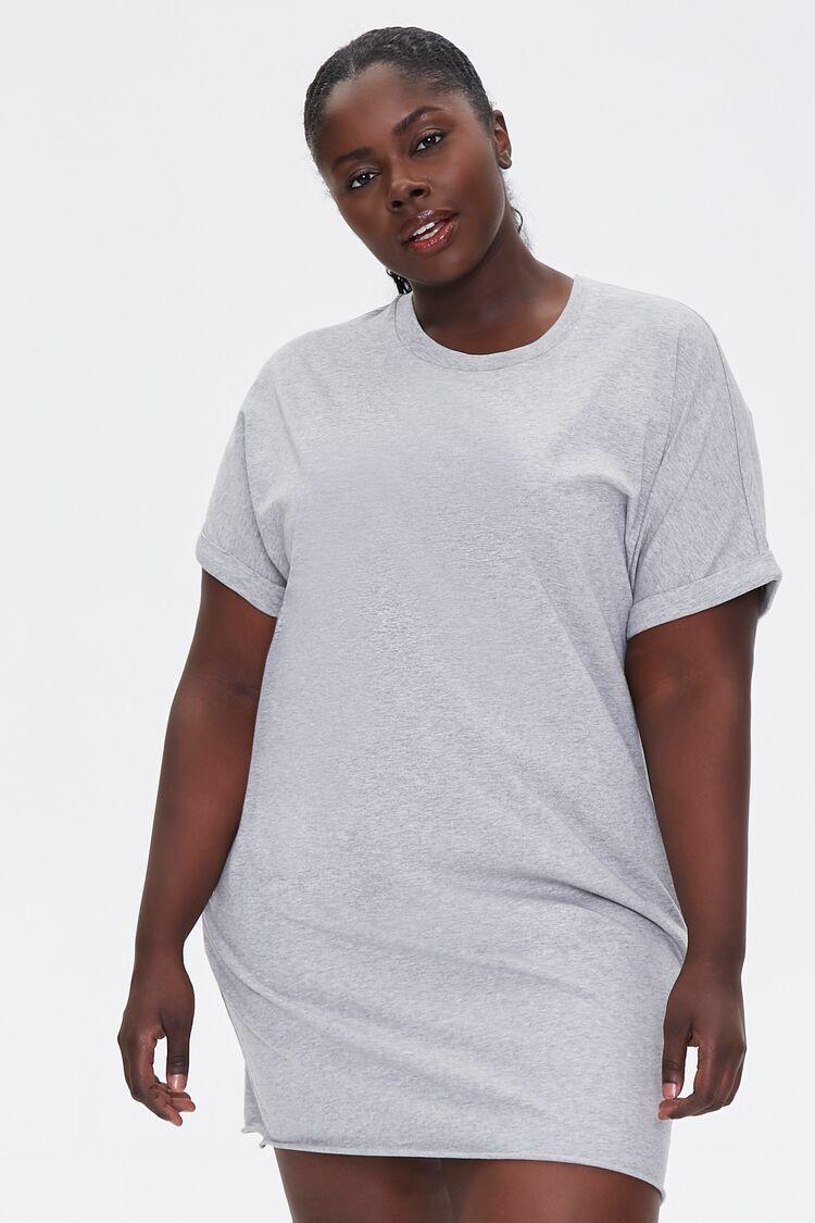 Plus Size Cuffed T-Shirt Dress