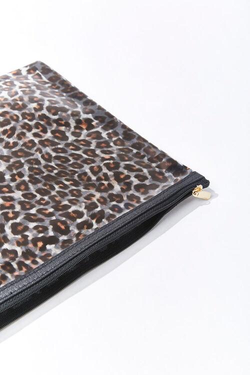 Leopard Print Vinyl Pouch, image 1