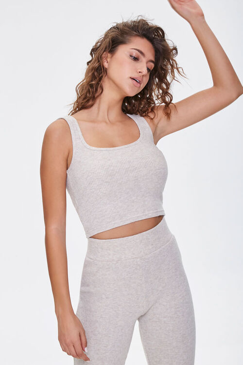 Ribbed Cropped Tank Top, image 1