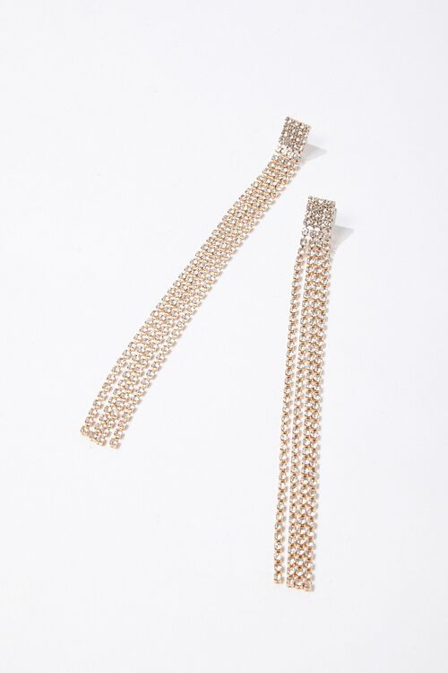 Rhinestone Fringe Duster Earrings, image 2