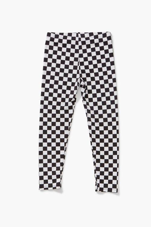 Girls Checkered Leggings (Kids), image 2