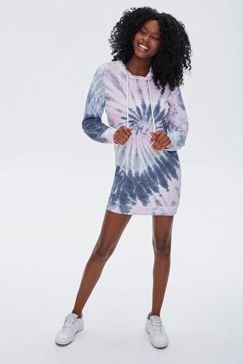 Tie-Dye Fleece Hoodie Dress, image 4