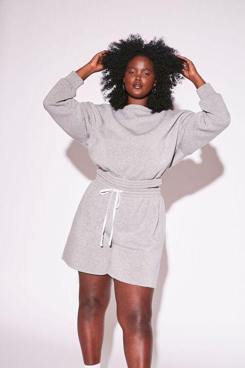 Plus Size Sweatshirt & Shorts Set, image 1
