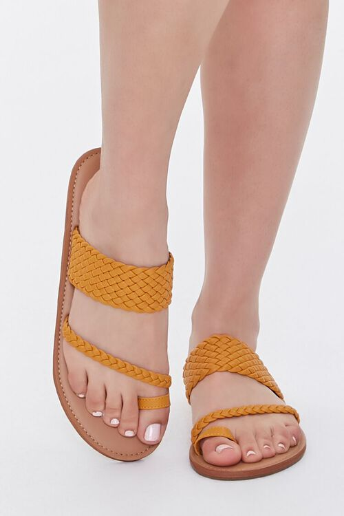 Braided Toe-Ring Flat Sandals, image 4
