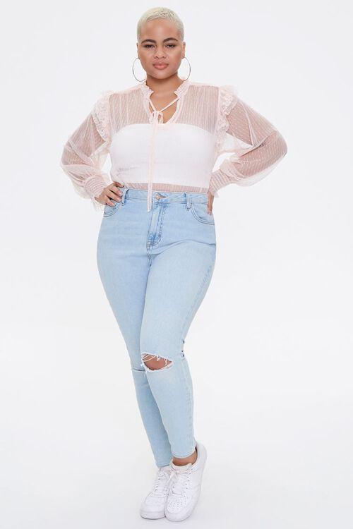 Plus Size Sheer Mesh Bodysuit, image 4