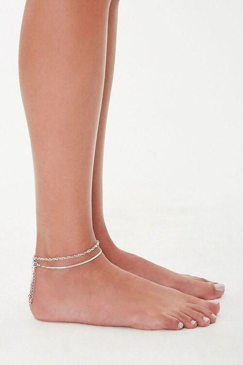 Snake & Twisted Chain Anklet Set, image 3
