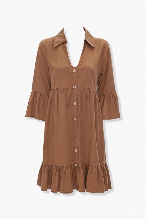 Flounce-Trim Mini Dress, image 1