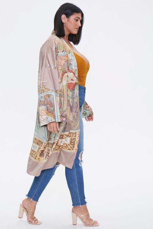Plus Size Alphonse Mucha Kimono, image 2