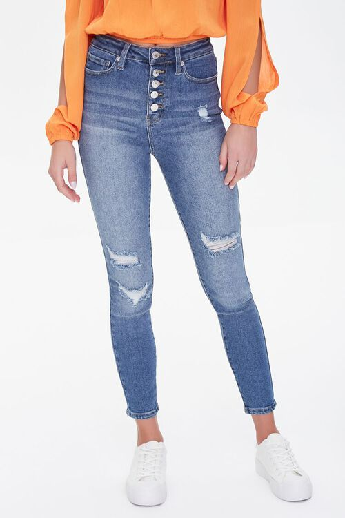 Premium High-Rise Skinny Ankle Jeans, image 2