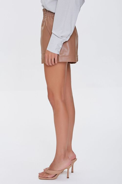 Faux Leather High-Rise Shorts, image 3
