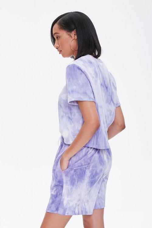 LAVENDER/CREAM Tie-Dye Tee & Shorts Set, image 2