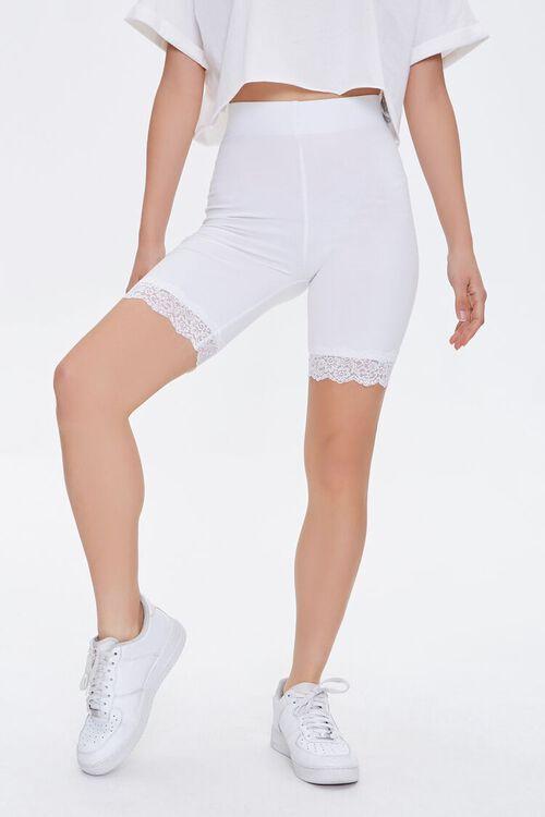 Lace-Trim Biker Shorts, image 3