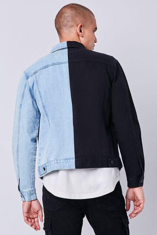 DENIM WASHED/BLACK Reworked Denim Jacket, image 3