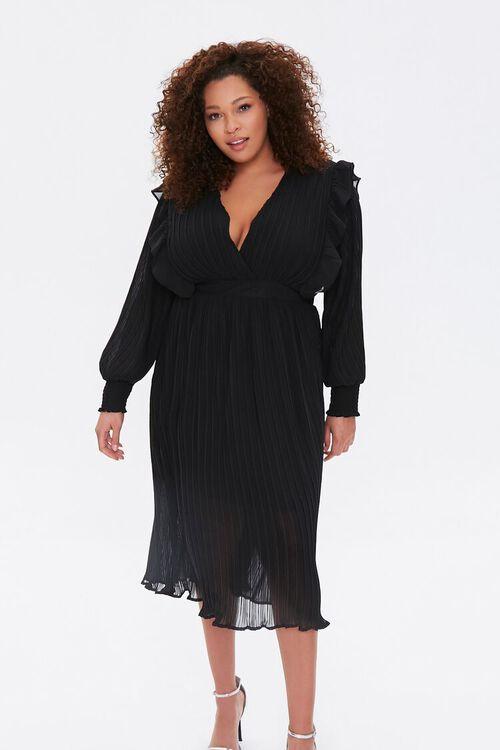 Plus Size Accordion-Pleated Dress, image 4