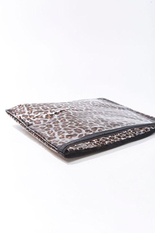 Leopard Print Vinyl Pouch, image 2