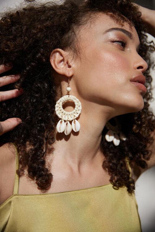 Shell Cutout Drop Earrings, image 1