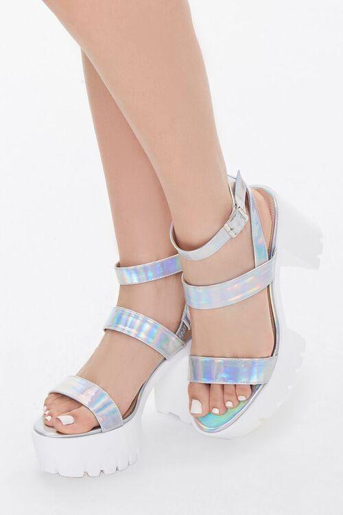 Iridescent Platform Block Heels, image 1