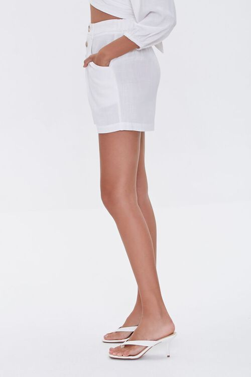 High-Rise Button-Fly Shorts, image 3