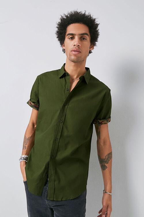 Classic Fit Camo-Trim Shirt, image 2