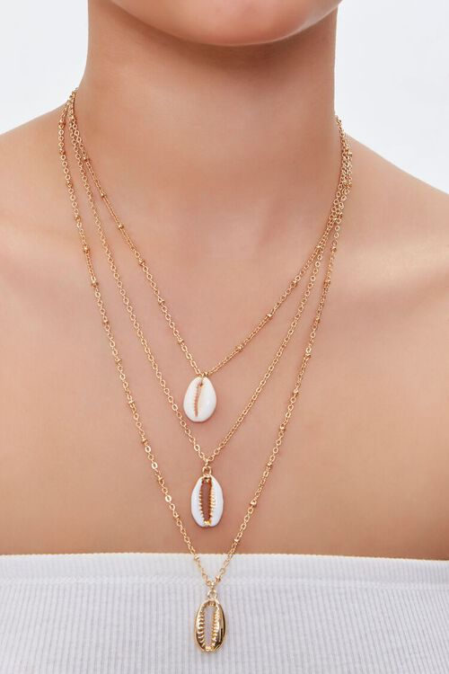 Cowrie Shell Layered Necklace, image 1