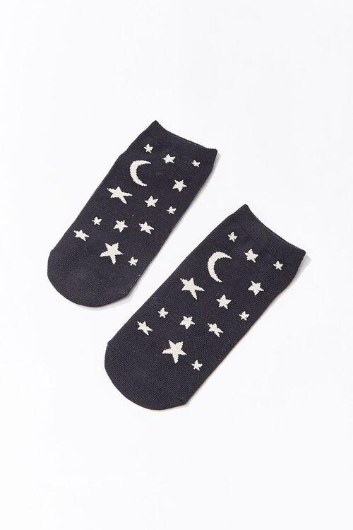 Moon & Stars Print Ankle Socks, image 2