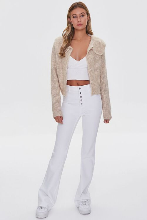 SAND Ribbed Cardigan Sweater, image 4