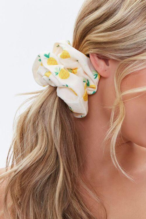 YELLOW/MULTI Pineapple Hair Scrunchie, image 2