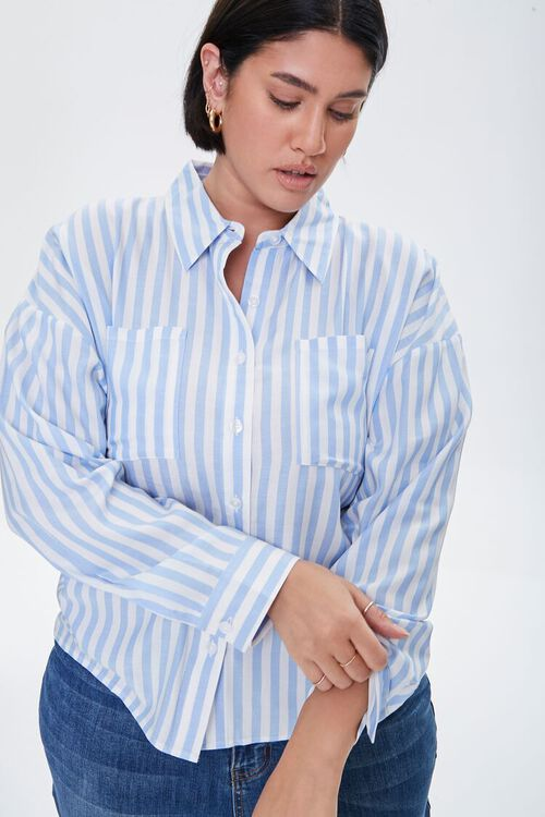 Plus Size Striped Shirt, image 1