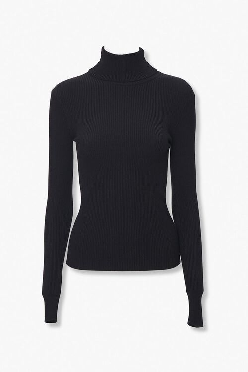 Ribbed Turtleneck Top, image 1