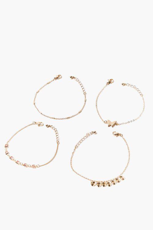 GOLD Butterfly Charm Bracelet Set, image 4
