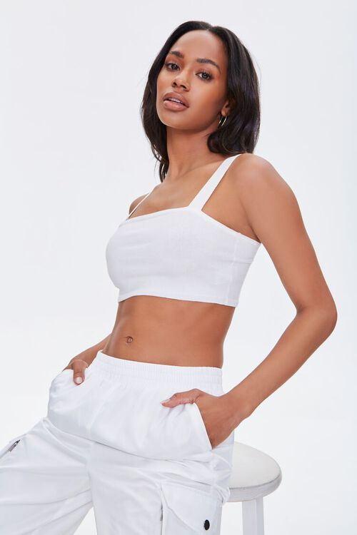 Sweater-Knit Crop Top, image 2