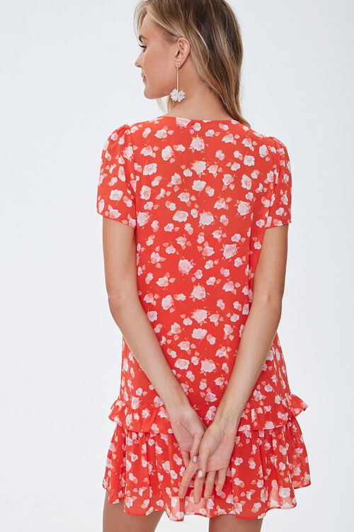 Chiffon Floral Tiered Dress, image 3