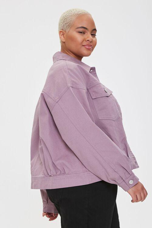 Plus Size Drop-Sleeve Twill Jacket, image 2
