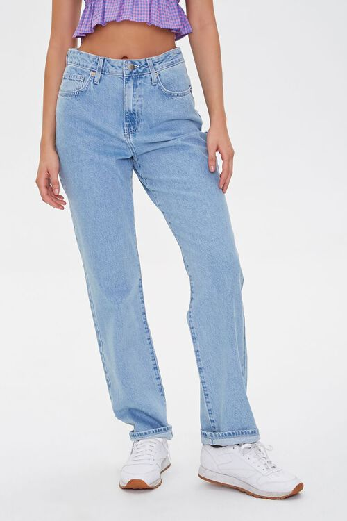 High-Rise Straight-Leg Jeans, image 2