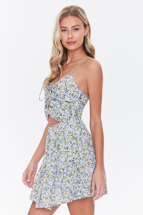 Floral Cutout Mini Dress, image 2