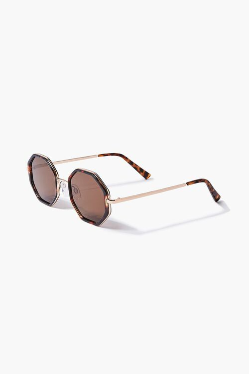 Tortoiseshell Geo Sunglasses, image 3