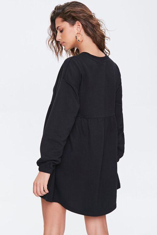 Fleece Drop-Sleeve Mini Dress, image 3