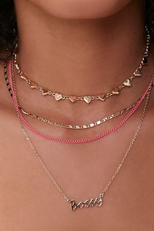 Bossy Pendant Choker Necklace Set, image 1