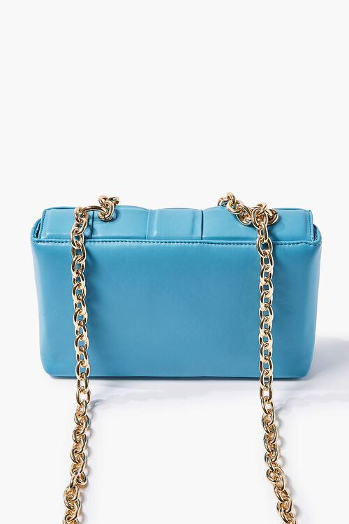 Faux Leather Basketwoven Crossbody Bag, image 3
