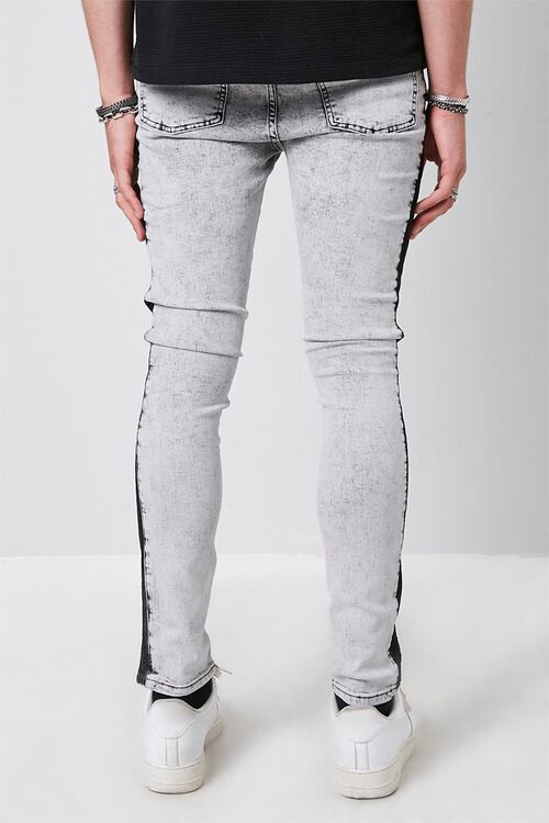 Contrast Wash Distressed Skinny Jeans, image 4