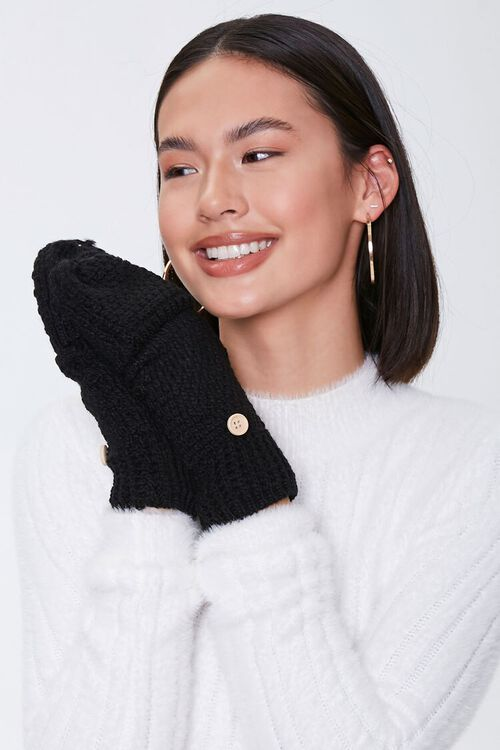 Convertible Knit Gloves, image 1