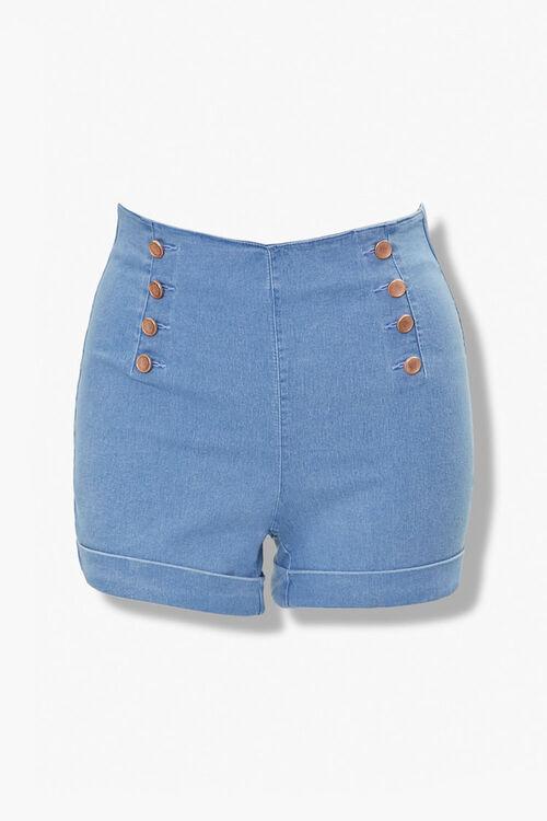 Plus Size Cuffed Denim Shorts, image 1