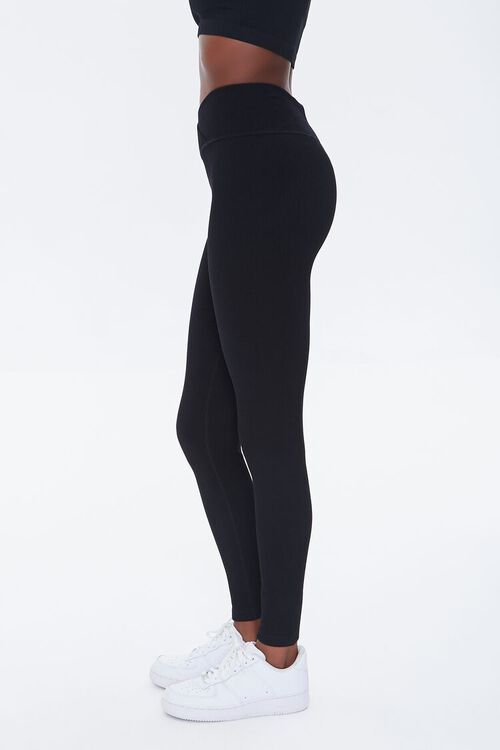 BLACK Active Seamless Notched Leggings, image 3