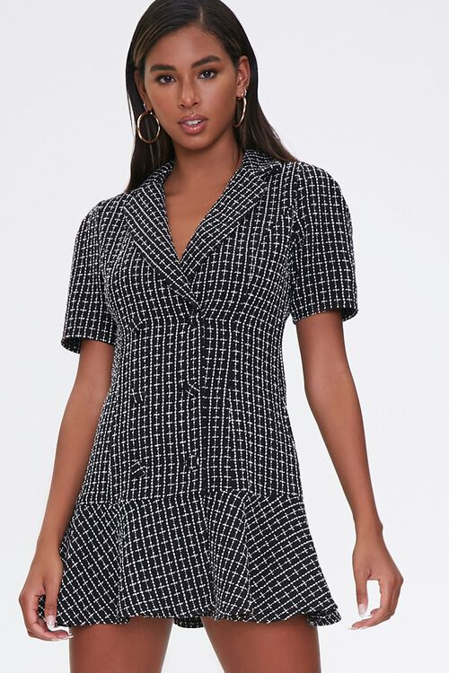 Tweed Blazer Flounce Dress, image 1