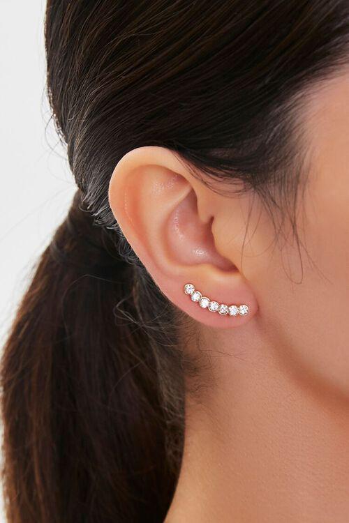 GOLD Faux Gem Ear Pins, image 1