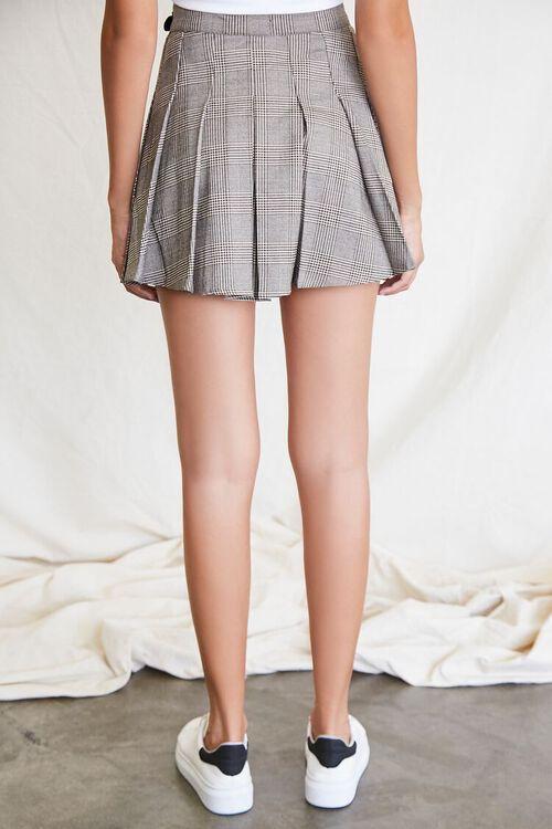 BLACK/MULTI Pleated Plaid Mini Skirt, image 4