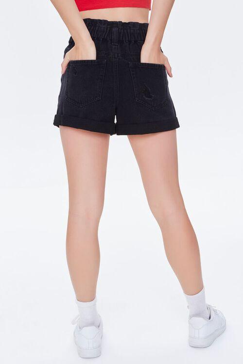 Distressed Denim Paperbag Shorts, image 4