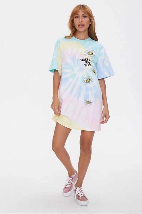 Make Love Not War Graphic T-Shirt Dress, image 4