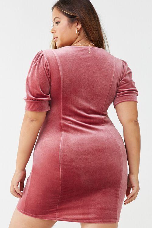 Plus Size Velvet Mini Dress, image 3